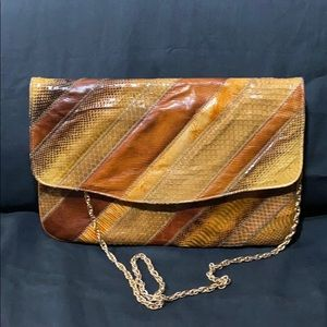 Genuine exotic snakeskin Clutch by Varon